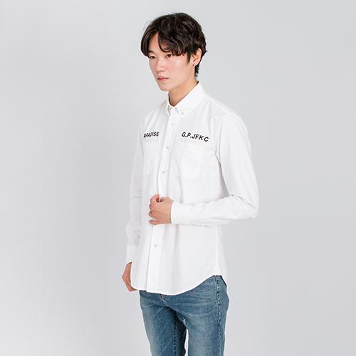 바니걸 자수 옥스포드 셔츠-와코.M
