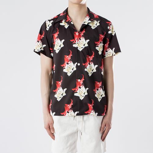 하와이안 셔츠 - 플라워.와코.M