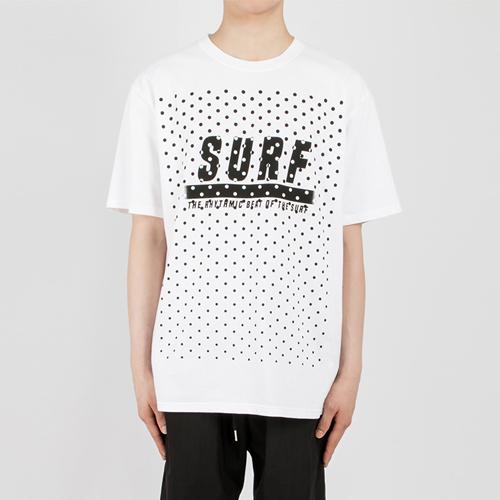 SURF 도트 프린팅 1/2 TEE(2컬러)
