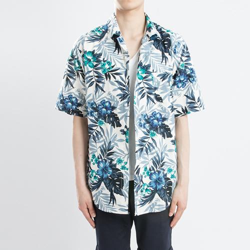 린넨 하와이안 1/2 셔츠(2컬러)-몰디브