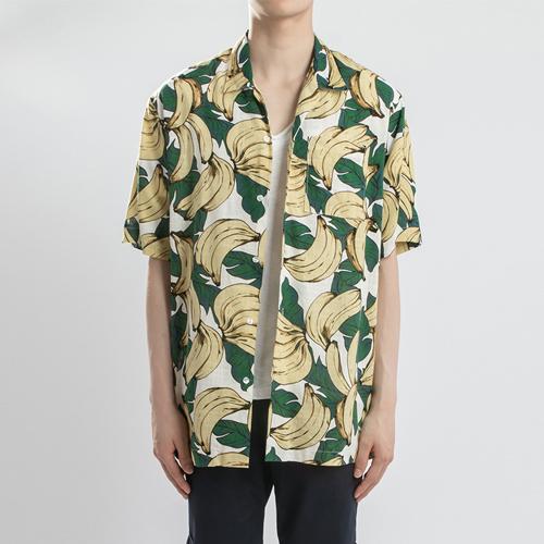 린넨 하와이안 1/2 셔츠(2컬러)-바나나