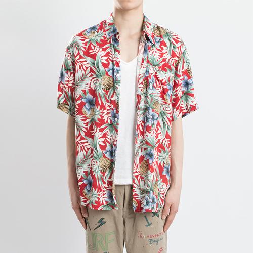 하와이안 1/2 셔츠(3컬러)-파인애플